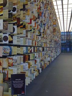 What if these were hundreds of perfume vial cards?   HSBC History Wall   The Mini Museum NפISƎp