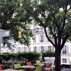 On the terrace overlooking the streets of Paris below.  A bird's eye view of the beauty.  #FleaingFrance #France #travel #trips #shopping #Paris