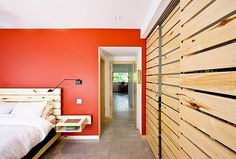 Slat closet doors and wall color