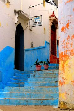 Cafe Baba Tangier, Morocco by photobotic Tanger Morocco, Oh The Places You'll Go, Places To Visit, Morocco Travel, Spain And Portugal, North Africa, Culture Travel, Adventure Is Out There, Casablanca