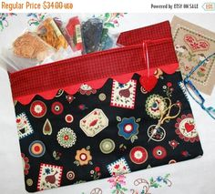 SALE Primitive Pennies Cross Stitch Sewing by SewMuch2Luv on Etsy