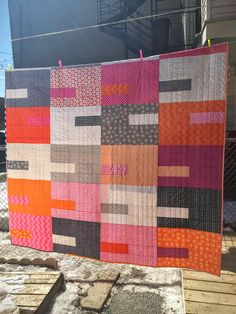 Dizzy Quilts: Pink and Orange for Kat