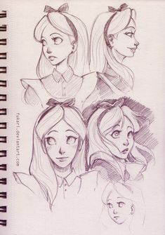 Awesome Alice drawings! Wish I could do this..........................
