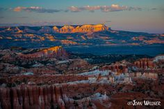 """The morning sun hits the tip of the """"sinking ship"""" rock formation at Bryce National Park. Bryce National Park, National Parks, Morning Sun, Rock Formations, Grand Canyon, Ship, Mountains, Wall Art, Travel"""