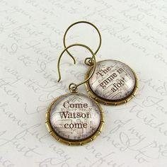SO COOL! Sherlock Holmes Earrings - London Map Baker Street - Come, Watson, come. The game is afoot.. $28.00, via Etsy.