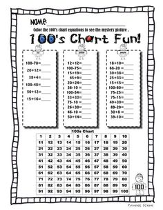 Free printable worksheets for 100th Day activities: How