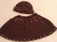 Brown hat and poncho by ARTofFILIZ on Etsy