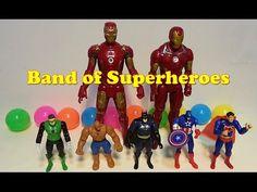 Unboxing Marvel toys Superhero Ironman, Spiderman, Captain America, Batm...