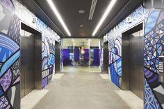 Wunderman / Bienalto Sydney Activity Based Workplace (ABW). Grafitti art by…