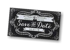 Classic Banners Save the Date Magnet