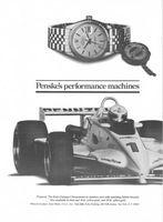 Rolex Datejust Watch, Roger Penske 1983 Ad Picture