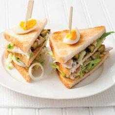 Recept - Clubsandwich met forelsalade - Allerhande