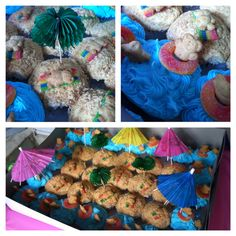 Teddy Gram Ocean Party Cupcakes... :)