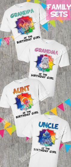 Mom and dad of birthday girl- Trolls version, trolls birthday shirt, matching trolls, trolls theme birthday, trolls parents, trolls bday