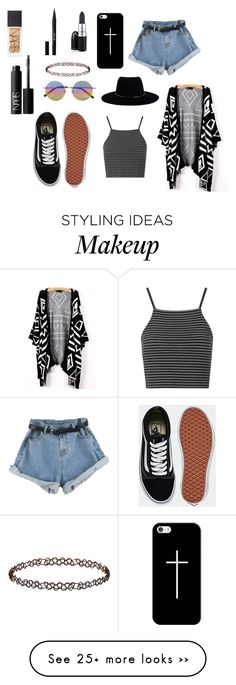 """""""summer"""" by charlfprotet on Polyvore featuring Topshop, Zimmermann, Vans, Linda Farrow, Casetify, NARS Cosmetics and Stila"""