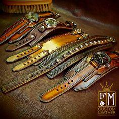 leather cuff watch, leather bracelets, Freddie Matara Custom Leather