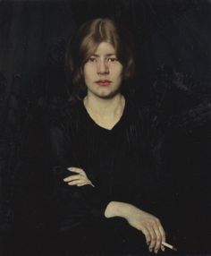 Portrait of a Woman with Cigarette - Oskar Zwintscher,  1904.  Eva's blog