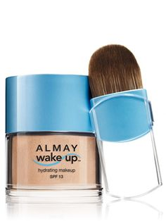 Almay wake-up hydrating mineral makeup spf 13, in neutral. Oil-free cooling formula.