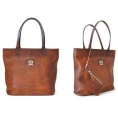 Pratesi Monterchi Shopper Smart Brown. #pratesi #shopper #leather #bag #shopping #shoppingbag #tote #totebag #schoudertas #tas #damestas