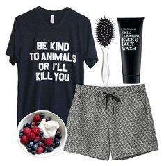 be kind to animals or I'll kill you by natashayoung on Polyvore featuring polyvore fashion style Monki Clark's Botanicals New Look clothing