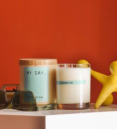 Staycation candles.