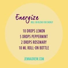 7 Essential Oils You Can Use To Feel More Energetic – Jenna Drew - Modern Essential Oils Energy, Oils For Energy, Essential Oil Diffuser Blends, Essential Oil Uses, Doterra Essential Oils, Essential Ouls, Essential Oils For Breathing, Yl Oils, Roller Bottle Recipes