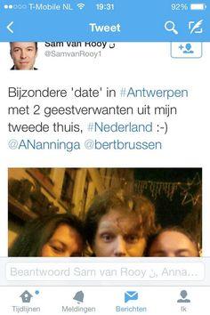 Permalink voor ingesloten afbeelding Annabel-'dobbernegers'-Nanninga en Bert-'rifapen'-Brussen bij de geestverwanten, de SS verheerlijkers van het Vlaams Belang.