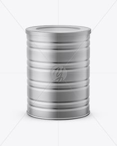 Metallic Tin Can Mockup - High Angle Shot