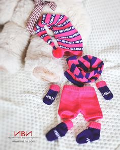 Bright knitted set for kids.