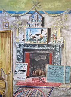 "'The Mantelpiece"" by Emily Sutton (watercolour)"