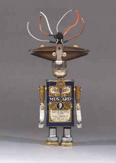 ROBOT SCULPTURE  Metal art sculpture Junk von CastOfCharacters23
