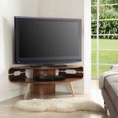 Jual Havana Jf701 Walnut Retro Style Corner Tv Stand