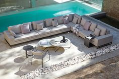 Manutti // Outdoor luxury sofa, which elevates relaxation to a whole new level - Zendo Collection Outdoor Chairs, Outdoor Furniture Sets, Outdoor Decor, Luxury Sofa, Modular Sofa, Sofa Set, Lounge, Patio, Instagram