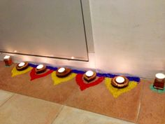 Diwali Rangoli - made with colored rice
