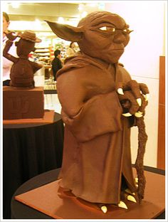 Sweet sweet chocolate Yoda - Tafe Chocolate Sculptures - Yoda by nettness, via Flickr