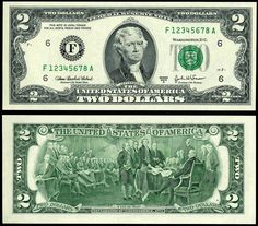 1976 Uncirculated Two Dollar Bill Crisp $2 Federal Reserve Note New from MINT