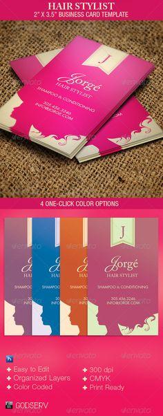 Hair Stylist Business Card Template - $6.00