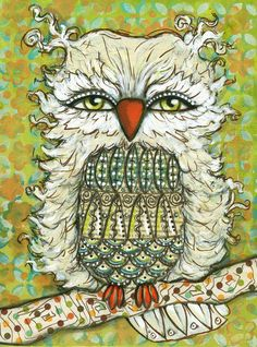Owl for Baby Kye by Heather Foust