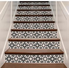 Vinyl Stair Decor . Carnival Gypsy Style Staircase Riser Decal Stickers . Your Choice of Color