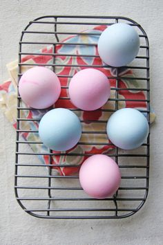 Dying eggs with food coloring and vinegar. -cbb (Easter DIY: Chocolate Mousse-Filled Eggs | Chocolate Shavings)