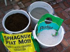 Recipe:  1 part Portland cement, 1 part peat moss, 1 part perlite, and 1 part sand; slightly heavier than other recipes