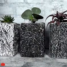 Have you decided what to do on your next craft night Because we might have something for you By Master Sergeich Diy Crafts For Home Decor, Diy Crafts Hacks, Diy Crafts For Gifts, Diy Arts And Crafts, Upcycled Crafts, Diy Concrete Planters, Concrete Crafts, Cement Flower Pots, Plaster Crafts
