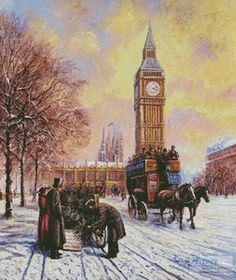 Big Ben at Winter cross stitch chart