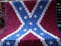 Confederate flag quilt | Quilts | Pinterest | Flag quilt, Flags ... : rebel flag quilt pattern - Adamdwight.com