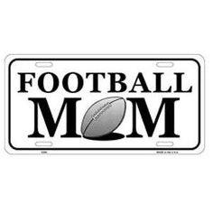 Football Mom License Plate