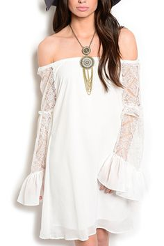 Classy Sheer Lace Off Shoulder Date Dress
