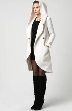 beige coat wrap coat hooded coat winter coat wool coat