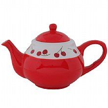 My old obsession (cherries) with my NEW obsession (tea pots) I LOVE IT!!