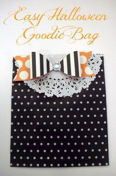 Easy Halloween Goodie Bag @American Crafts