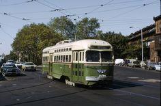 SEPTA Rt.34 Trolley at 49&Baltimore  Phila. 1970s